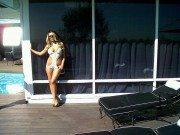 Aubrey O'Day in a Swimsuit (x2) Twitter Pics 11/04/10