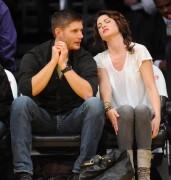 Nov 24, 2010 - Danneel Harris and Jensen Ackles at Lakers Game in Los Angeles Ca0448108348234