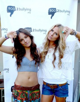 Briana Evigan BOO2bullying Youth Lounge 6/10/12 *tummy*